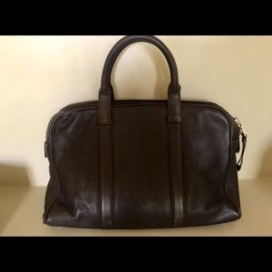 TOM FORD BROWN LEATHER BRIEFCASE
